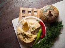 Gruziński serowy ptysiowego ciasta kulebiak Obraz Stock