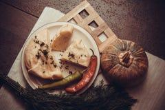 Gruziński serowy ptysiowego ciasta kulebiak Fotografia Stock