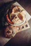 Gruziński serowy ptysiowego ciasta kulebiak Zdjęcia Stock