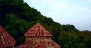 Gruzja, Kakheti Gurjaani Kvelatsminda kościół blisko Alazan doliny Widok Powietrznym trutniem zbiory