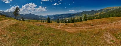 Gruzja kraju krajobrazu panorama Zdjęcie Royalty Free
