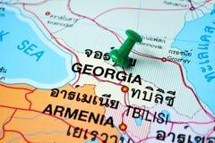 Gruzja mapa zdjęcie royalty free