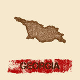 Gruzja martwił mapę royalty ilustracja