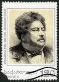 GRUZJA - 2003: przedstawienia Alexandre dumy Pere 1802-1870, Francuski powieściopisarz zdjęcie stock