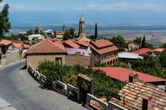 Gruzja, Sighnaghi: Miasto miłość w Alazani dolinie Zdjęcie Stock