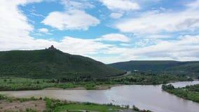 Gruzja Zbieżność Aragvi i Kura rzeki zdjęcie wideo
