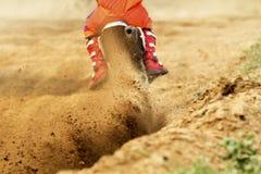 Gruzy od motocross rasy Zdjęcie Stock