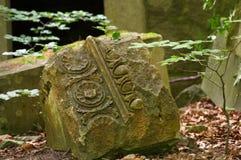 Gruzy zniszczony kasztel w lesie niemiecki wyspy RÃ ¼ g Zdjęcia Royalty Free