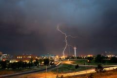Grève de éclairage au-dessus de Denver Photos libres de droits