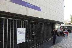 Grève de métro de Lisbonne Photo stock