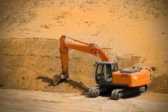 grävskopaströmskyffel Arkivfoton