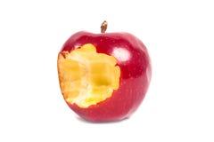 Gryźć daleko jabłka Zdjęcie Royalty Free