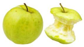 Gryźć i cały babcia kowala jabłko Fotografia Royalty Free