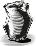 Gryźć jabłko na bielu ilustracji