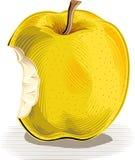 Gryźć jabłko na bielu ilustracja wektor