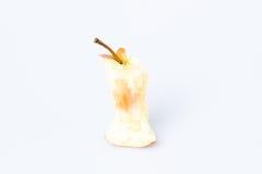 Gryźć jabłko nad bielem Zdjęcie Stock