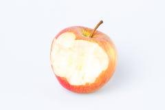 Gryźć jabłko nad bielem Zdjęcie Royalty Free