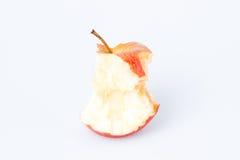 Gryźć jabłko nad bielem Obraz Stock