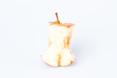 Gryźć jabłko nad bielem Fotografia Royalty Free