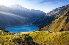 góry campingowe Obrazy Royalty Free
