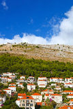 Góry i domy Dubrovnik, Chorwacja Fotografia Stock