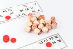 Gry planszowej loteryjka na stole odizolowywającym fotografia stock