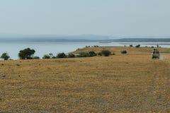 Gry przejażdżka przy Jeziornym Magadi, Kenja zdjęcie stock