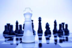 gry szachowej króla Obraz Royalty Free