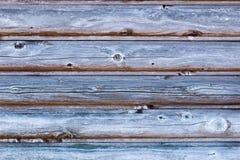 Gry tło stara sosnowa drewniana ściana Zdjęcia Royalty Free