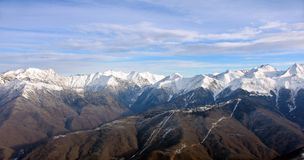 Góry w Krasnaya Polyana. Sochi. Rosja. Obrazy Royalty Free