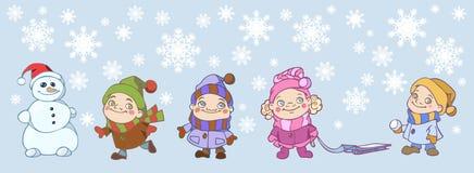 gry zima Zdjęcie Stock