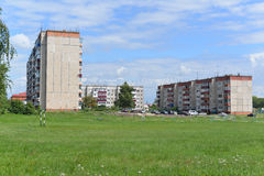 Gryazi, Russia - 07.23.2015. General view of the town of Gryazi - a major rail hub in South-Eastern Railway Royalty Free Stock Photo
