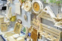 Gryazi, Russland - 8. August 2016 Abteilung von Waren für ein Bad im Grossmarkt Prorab Lizenzfreie Stockbilder