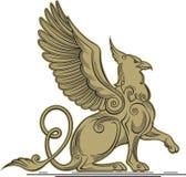 Gryf - mityczna istota z głową, drapa i uskrzydla Obrazy Royalty Free