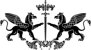 gryfa stencil kordzik Obrazy Royalty Free