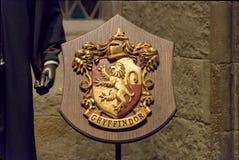 Gryffindor domu grzebień zdjęcia royalty free