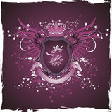 gryfonu grunge głowy retro osłona Obraz Royalty Free
