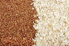 Gryka i oatmeal Fotografia Royalty Free