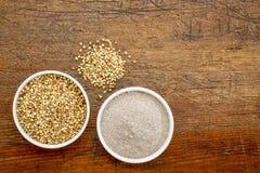 Gryki mąka i adra fotografia royalty free
