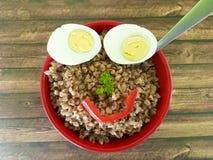 Gryki półkowy jajeczny śmieszny Zdjęcia Royalty Free