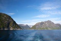 Gryllefjord,塞尼亚岛,挪威 免版税库存照片
