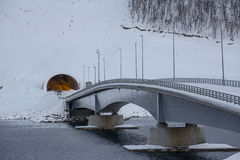 Gryllefjord-bridge Stock Photography