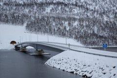 Gryllefjord-bridge Stock Images