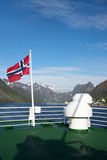 Gryllefjord Senja, Norge Royaltyfri Fotografi