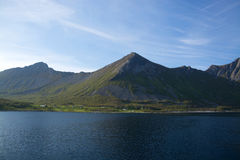 Gryllefjord, Senja, Norvegia Fotografie Stock