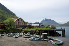 Gryllefjord, Senja, Norway Royalty Free Stock Photos