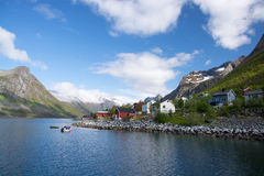 Gryllefjord, Senja, Norway Stock Images