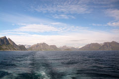 Gryllefjorden e Torskefjorden, Senja, Norvegia Fotografia Stock