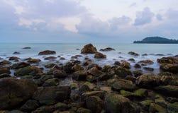Grymaśny seashore Fotografia Stock