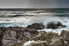 gryning exponerad rockhavssun Fotografering för Bildbyråer